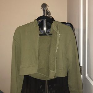 Forever 21 Cropped Sea Green/ Moss Jacket